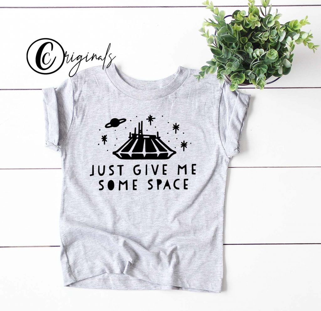 just give me some space space mountain toddler shirt