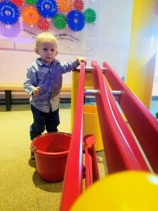 toddler rolling ball
