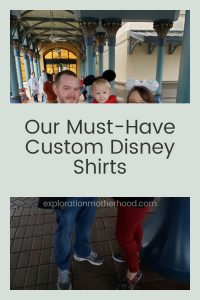 See the 8+ custom Disney shirts we're bringing to Walt Disney World!  Includes family shirts, Starbucks love, Toy Story's Rex, Beauty and the Beast, and more!  (Convenient shop links included) #waltdisneyworld #shopdisney #disneystyle #familyvacation #prepareforvacation #beautyandthebeast #toystory #spacemountain #florals #mickeymouse