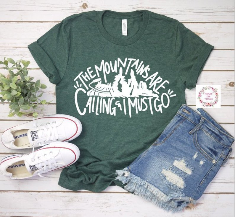 The mountains are calling and I must go Disney shirt