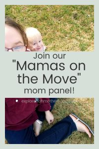 "Join the Exploration Motherhood family at explorationmotherhood.com by becoming an official ""Mama on the Move"" with our traveling mom panel!  Share your own thoughts, opinions, and tips for a chance to be featured in a post!  Answer quick and easy surveys to help create the best resource possible!  Get big news and updates first!  See special offers from us and our sponsors before anyone else! #momgroup #mompanel #familytravel #travelwithkids #travelwithchildren #family #surveys #coupons #deals"