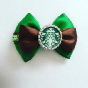 Starbucks hair bow