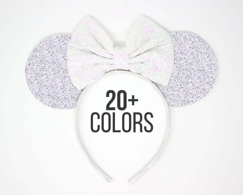 silver sequin Minni mouse ears, exploration motherhood
