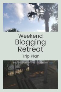 I'm heading off to a weekend blogger's retreat in Melbourne, Florida!  Read the trip plan for my first weekend away without my toddler! explorationmotherhood.com #retreat #bloggersretreat #womensretreat #thepurpleteacupco #thepurpleteacup #weekendgetaway #mommytime #selfcare #wahm #sahm #ladiesweekend