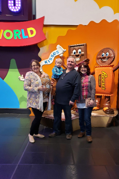 Hershey's Chocolate World family photo