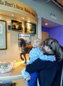 Da Vinci's horse at Da Vince Science Center in Allentown, PA