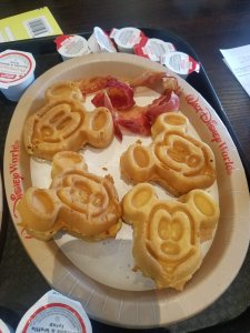 Mickey Mouse waffles from Walt Disney World