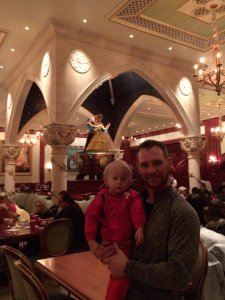 the rose gallery at Be Our Guest in Walt Disney World's Magic Kingdom, exploratiion motherhood